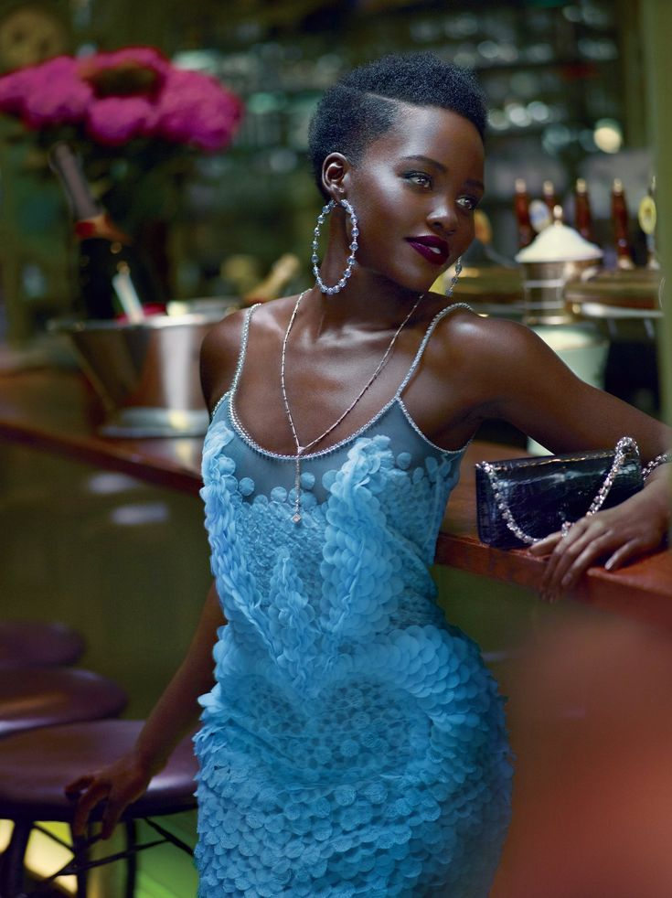 US Vogue October 2015 : Lupita Nyong'o by Mert Alas & Marcus Piggott