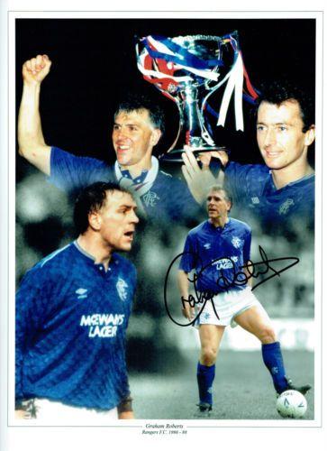 Graham-ROBERTS-Signed-Autograph-Glasgow-RANGERS
