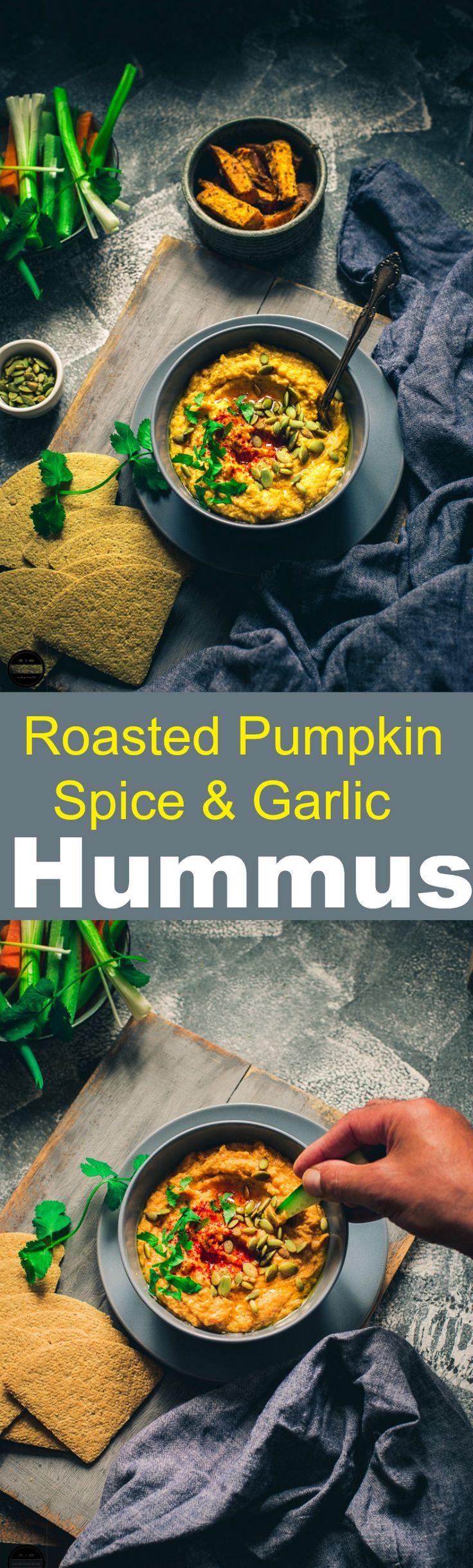 Roasted Pumpkin Spice and garlic Hummus
