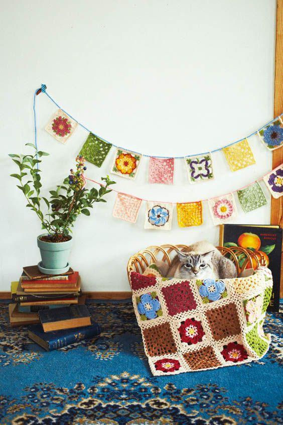 やわらかなぬくもりを大きくつないで かぎ針編みお花モチーフの会