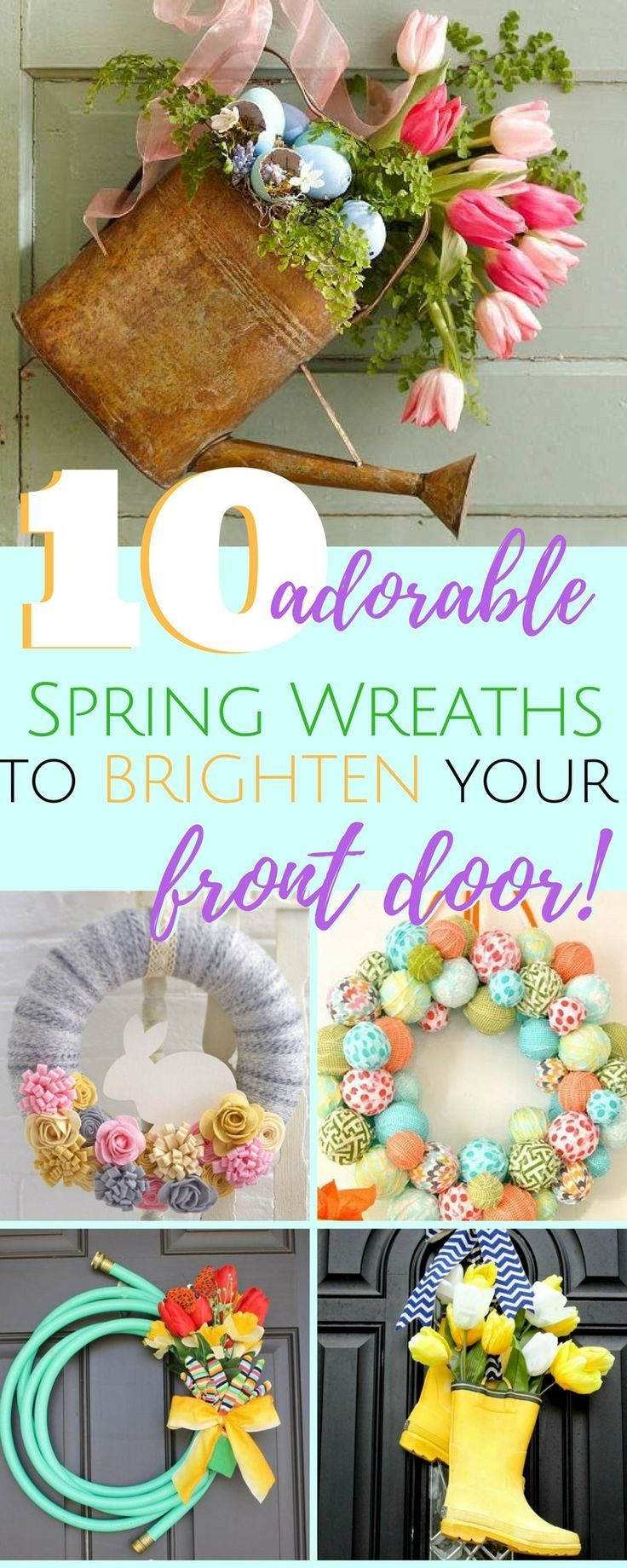 Unique Spring Wreath Ideas Diy Spring Wreath Easter Spring Wreath Spring Door Decoration