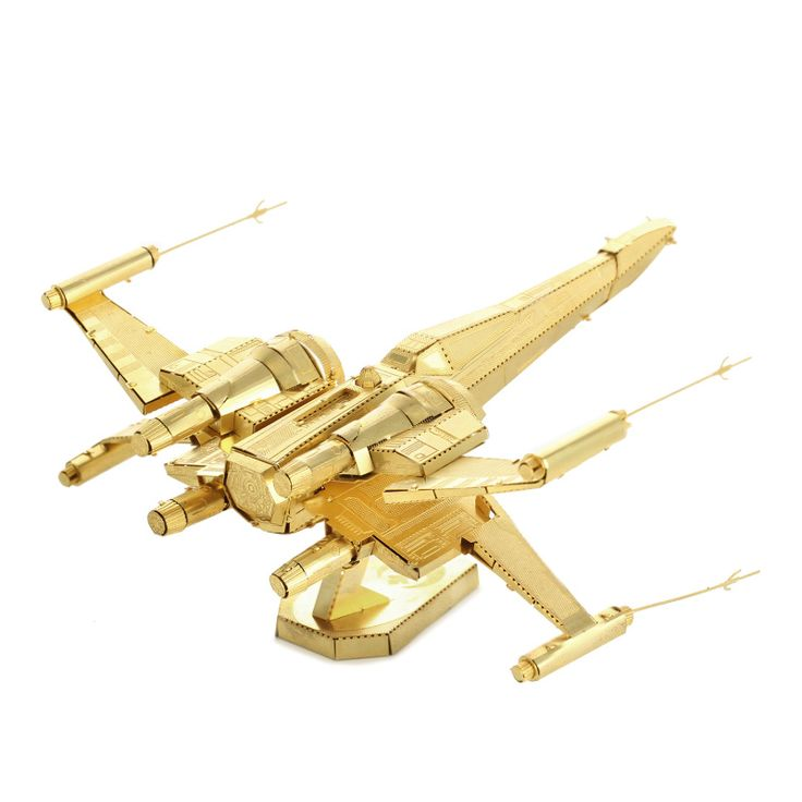 Brass Star Wars X-wing Starfighter Metal Model //Price: $19.95 & FREE Shipping //     #3DMetaltoys #Metal #Puzzle #3D #3DPuzzle #metalpuzzle #metalpuzzles #3dmetalpuzzles