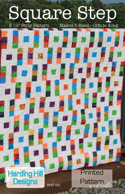 """Square Step 2-1/2"""" Strip Quilt Pattern - Multiple Sizes -  Crib to King size - Printed Pattern. $9.00, via Etsy."""