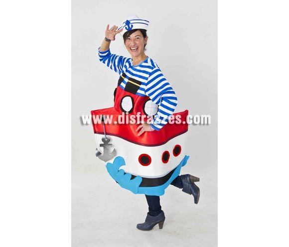 Disfraz de Marinero con Barco para adultos. Disponible en talla de mujer (44) y de hombre (50). Incluye disfraz completo tal y como sale en ...