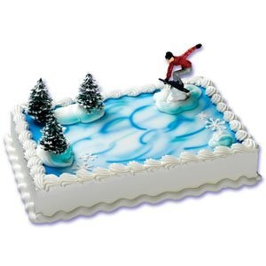 Arctic Cat Snowmobile Wedding Cake Topper