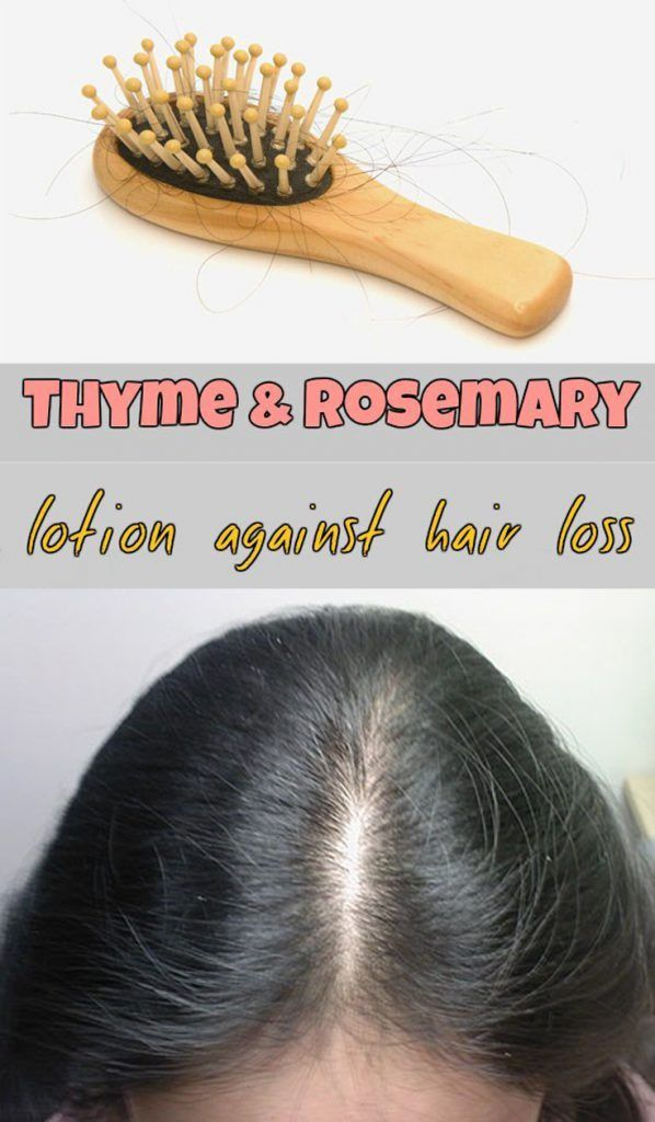 Learn how to make a thyme and rosemary lotion against hair loss.