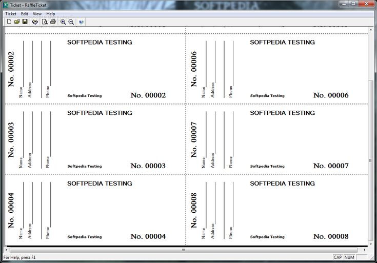 Free Printable Raffle Ticket Template Download Ticket Template