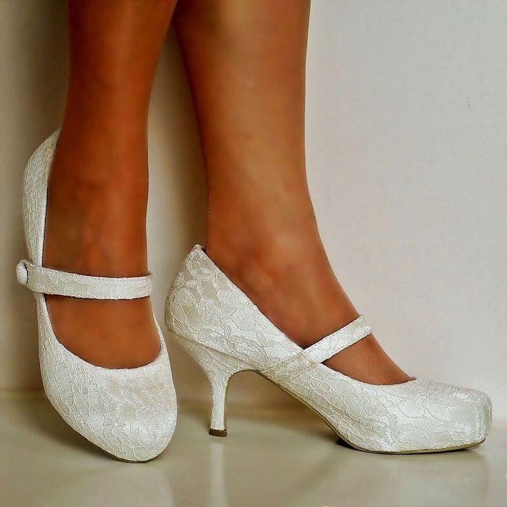 Ivory Wedding Shoes Low Heel