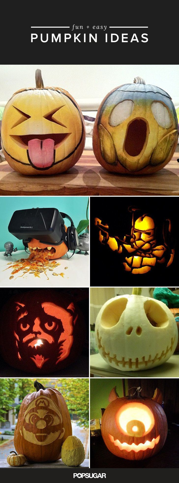 Get inspired by these totally cool pumpkin ideas for Halloween!