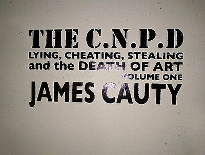 The C.N.P.D lying cheating stealing & the death of art embossed & stamped  33cm