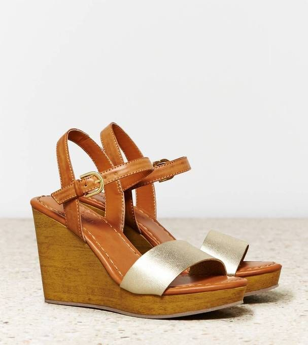 luvocracy luvaeo two tone wedge sandal by american eagle
