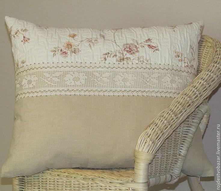 Купить Декоративная наволочка - бежевый, кремовые розы, кремовый, кофе с молоком, розы, подушка на диван