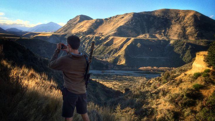Enjoying the vista. Avoca homestead, Canterbury. New Zealand, 2014. jbvbeek.