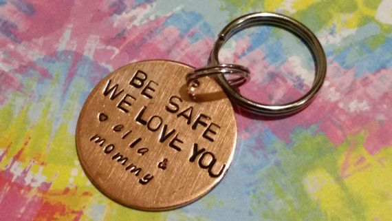 BE SAFE custom challenge coin keychain police by TiffysLove