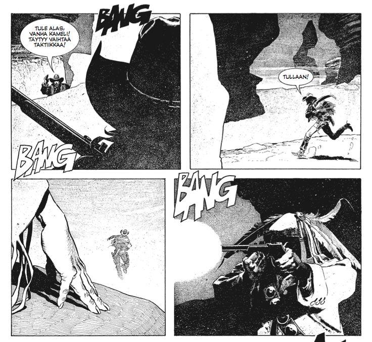 Enrique Breccian upeaa jälkeä Tex-albumista Captain Jack. #TexWiller #Western #sarjisparhaus