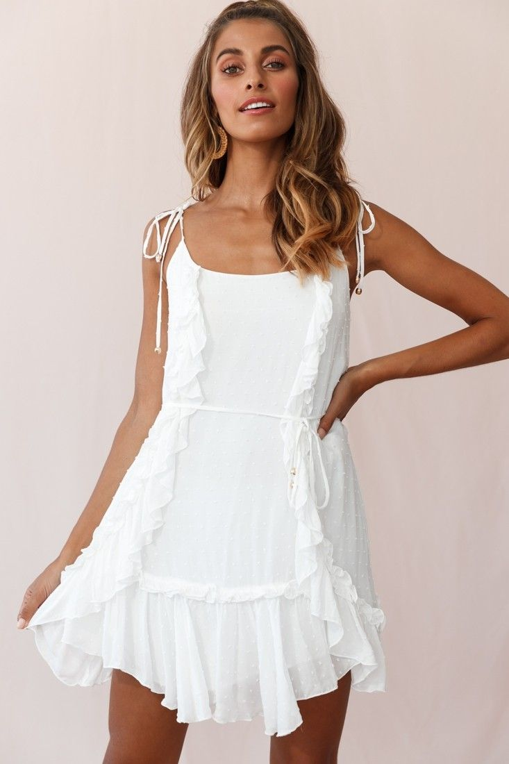 Wish Fluted Hem Lace Up Back Dress White Lace Up Back Dress Dresses White Dress [ 1100 x 733 Pixel ]