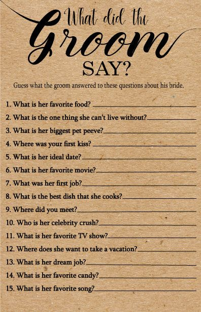 Funny Questions To Ask Bride And Groom