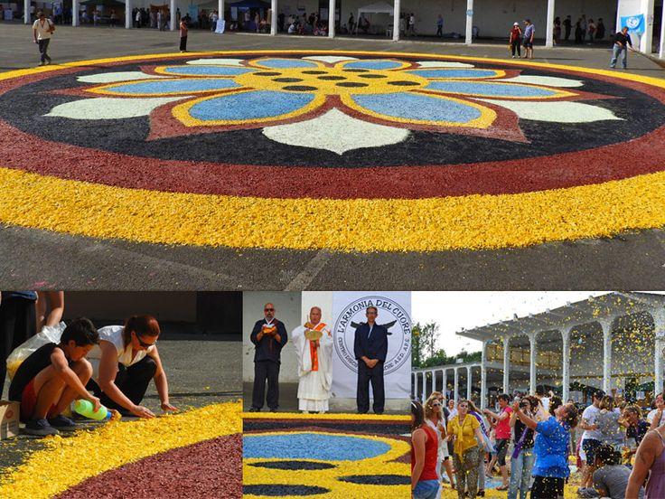 largest #mandala of #confetti of the #world!! - il #mandala_coriandoli più grande del #mondo!! :tada: - #CasaleMonferrato #Monferrato #BYO #spiritual #art #cleanupeurope