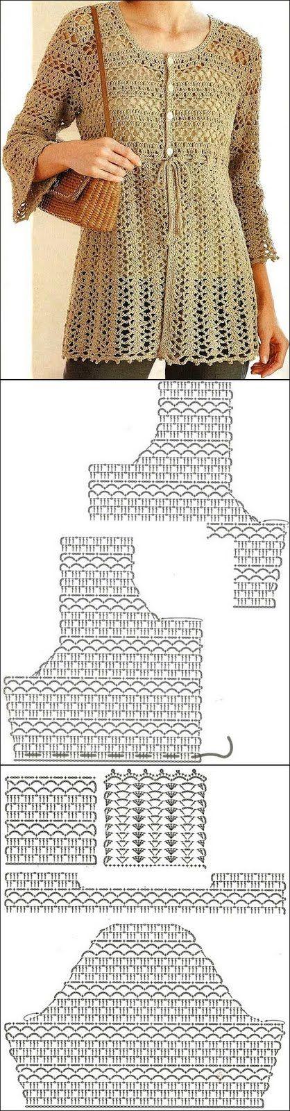 muçambê artesanato: Túnica em Crochê