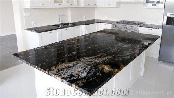 Magma Black Granite Magma Gold Countertops Black