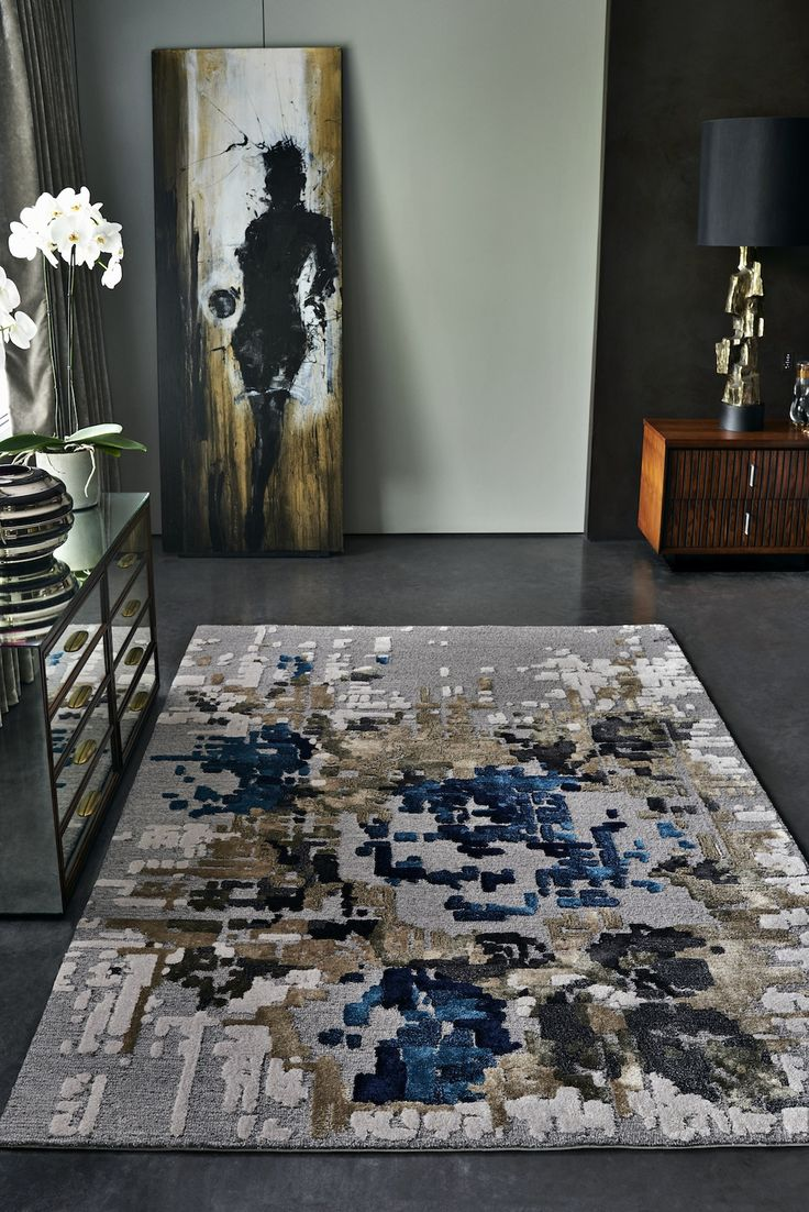 Pixel rug by STEPEVI. In the Pixel collection, a simple rose design is transformed into an abstract pattern created by pixelating and enlarging the original drawing. The resulting design is a more geometric, simplified and contemporary version of the classic rose silhouette. The rugs in the Pixel collection are woven from viscose yarn allowing different layers and heights to be achieved.