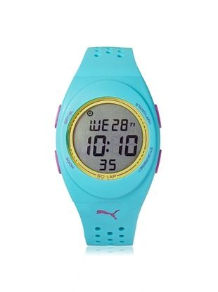 42% OFF PUMA Unisex PU911012004 FAAS Turquoise/Grey Rubber Watch