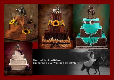 Western Wedding Cake Ideas. These are so pretty but I am sure extremely expensive.