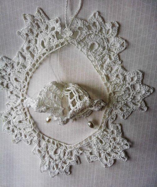 Decorazioni - ghirlanda decorazione bianca - un prodotto unico di bandullera su DaWanda