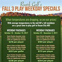Fall 3 Play Weekday Golf Specials...  #oceancitycool