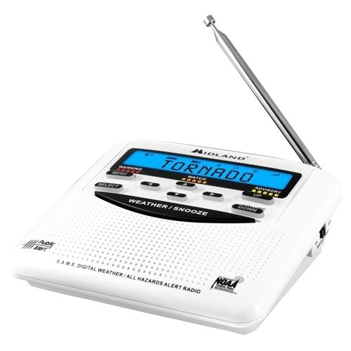 NEW! Midland Emergency Weather Alert Radio with Alarm Clock WR-120 Trilingual