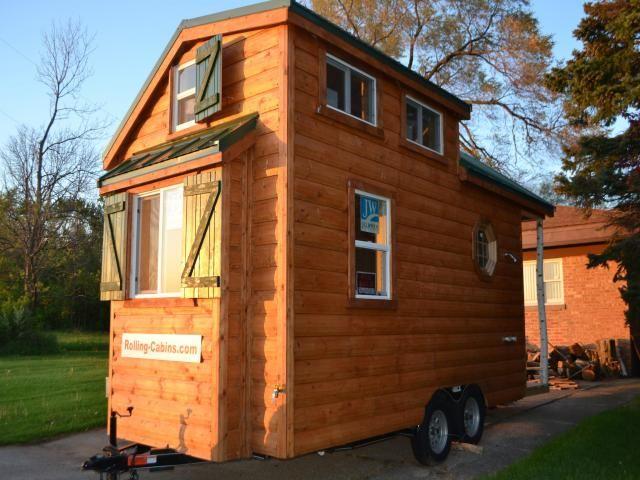 new custom tiny log cabin on wheels tiny house. Black Bedroom Furniture Sets. Home Design Ideas