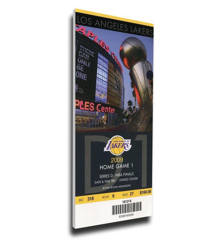 Los Angeles Lakers Wall Art - 2009 NBA Finals Canvas Mega Ticket - Game 1