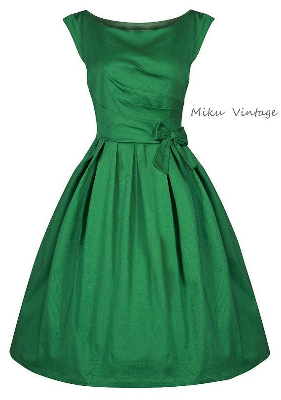 Vintage 50s Lucille Classic Pleated Rock N Roll by Mikuvintage, $76.00