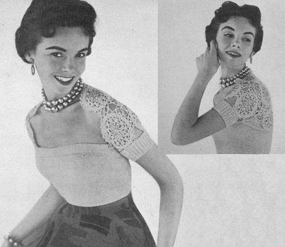 1954 Hamaca Shrug and Bodice Set Instant Download Vintage Crochet Patterns PDF 120