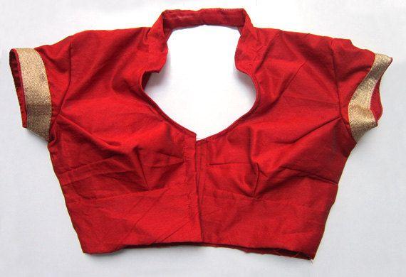 Readymade Saree Blouse red color - All Sizes - Sari Blouse - Saree Top - Sari Top - For Women