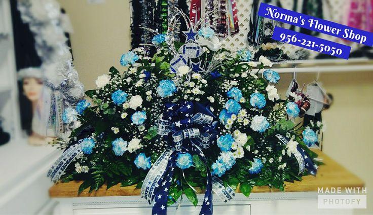 Dallas cowboys funeral arrangement normas flower shop 956