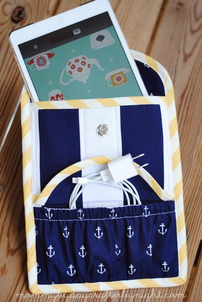 Mommy by day Crafter by night: iPad Mini Cargo Case + Tutorial #sew #quilt #craft