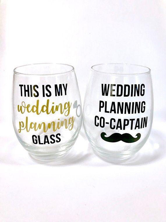 Engagement gift Wedding wine Wedding planning observer glass Future mrs wine glass Wedding planning wine glass Engagement wine glass