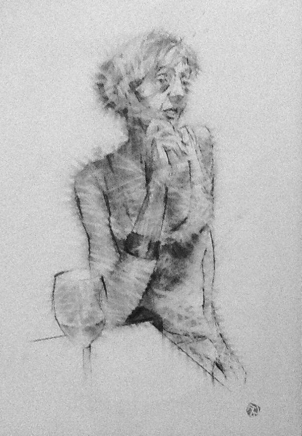 Susanna disegno a grafite