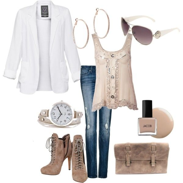 Created by juycrawford on PolyvoreFashion Outfit, Neutral Outfit, Style, New York Outfit, Blazers, Cute Outfit, Create, Boots, Fashionable Outfits