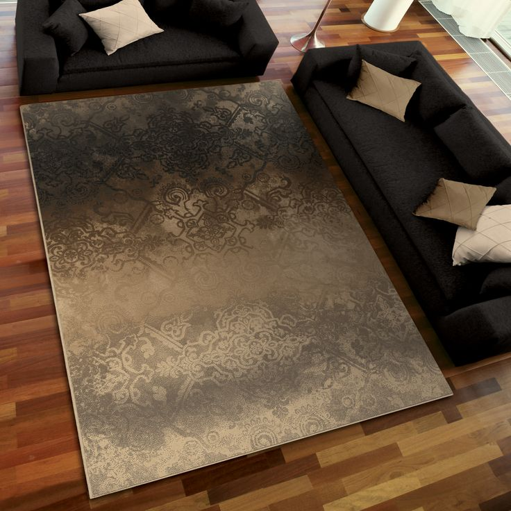 American Weavers Galaxy Faded Metal Pewter Area Rug   Rug Size: X