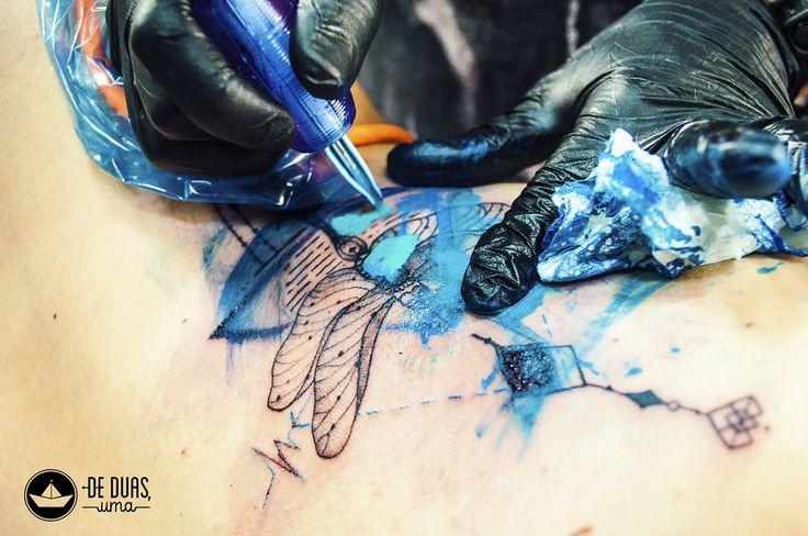 Tattoo aquarela: Libélula - De duas, uma | Tatuagem aquarela… | Flickr