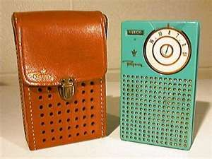 Transistor Radio - this was the only portable entertainment device available