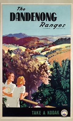 Australian travel poster- Dandenong Ranges