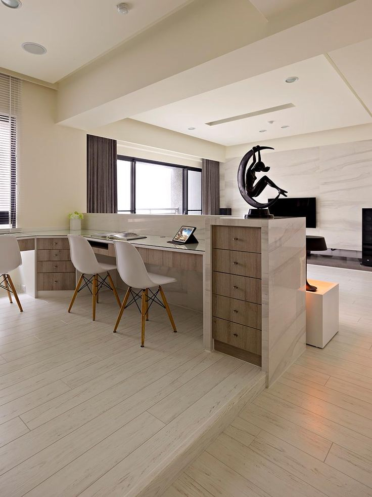 Open Plan Home with Oomph: Home Office Area: Offices Desks, Idea, Open Plans Houses, Open Floors Plans, Offices Area, Home Offices Design, Open Plan House, Plans Offices, Design Offices