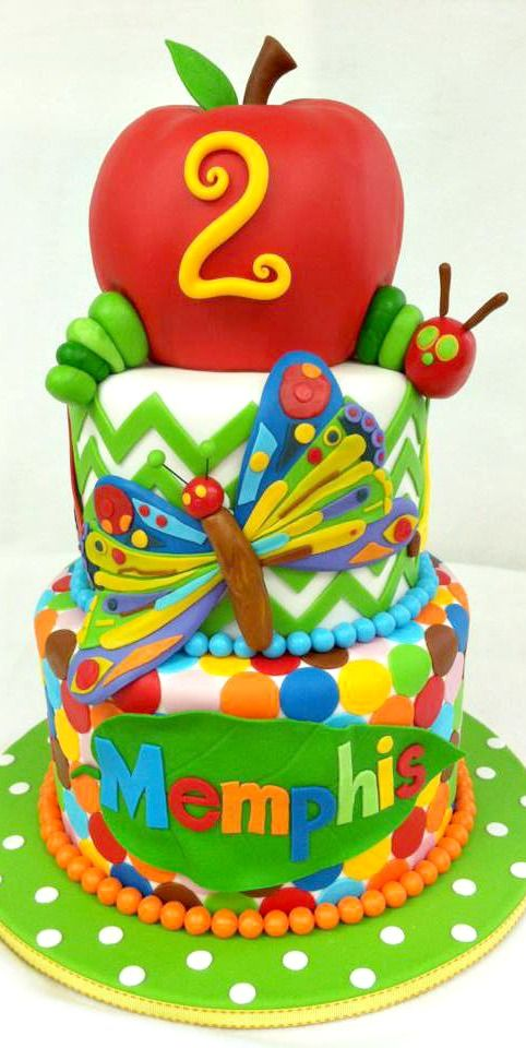 The Very Hungry Caterpillar Cake