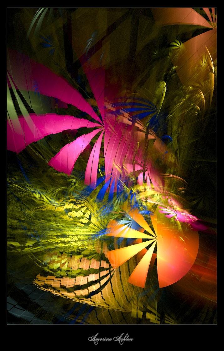 Color art digital - Tropical Jungle By Amorinaashton