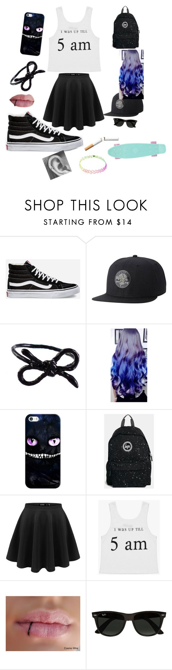 """another boredom set"" by bailey-peay-0517-bp ❤ liked on Polyvore featuring Vans, Converse, Areaware, Casetify, Hype and Ray-Ban"