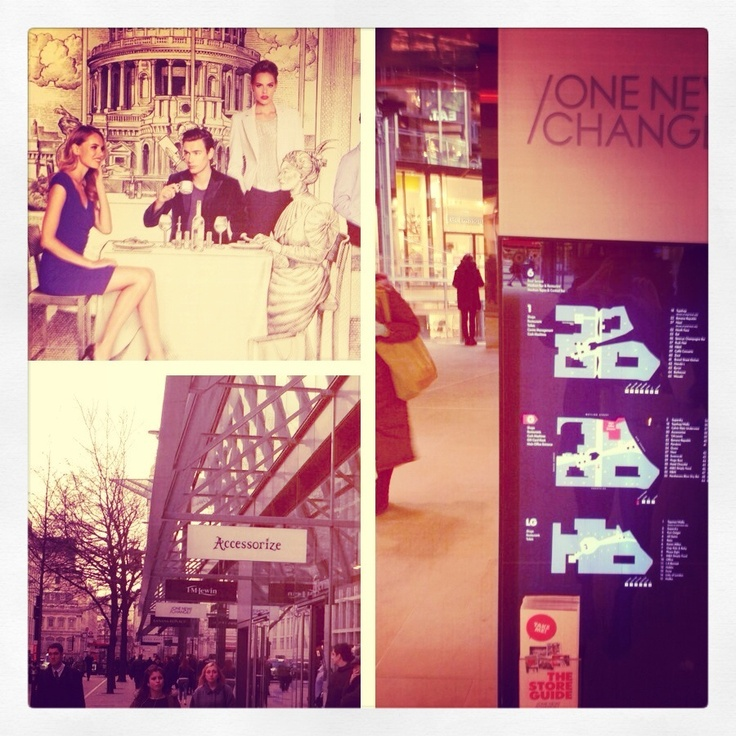 One New Change a great place to shop during lunch or after work. And only one tube stop away or a 10 a minute walk