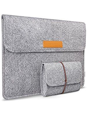 Inateck 15.4 Inch MacBook Pro Retina Case/ Dell XPS 15 Sleeve, with Small Case for Accessory, Light Gray